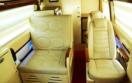 Very Great For Winding Down After A Tough Weekof Work Babus Auto Designing Will Offer You Tempo Traveller Caravan Interior With Much Amenities Like